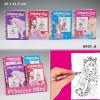 Раскраска TopModel.Princess Mimi с волшебными страницами