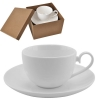 """Чашка с блюдцем, фарфор., 190 мл. 16,5x16,5x11, """"Классика"""", в подар. упак."""