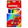 """Цветные карандаши """"KORES KOLORES JUMBO"""" с точилкой"""