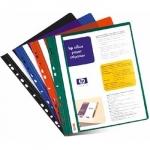 Папка-скоросшиватель с прозрачной обложкой с перфорацией