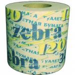 """Бумага туалетная """"Zebra"""" с втулкой"""