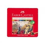 """Цветные карандаши """"Faber-Castell"""", металлическая коробка"""