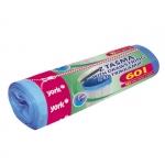 Мешки для мусора 60л.10шт/рулон с затяжками