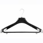 Вешалка костюмная №8Р, пластмассовая, черная, 450 х 55 х 250