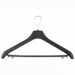 Вешалка костюмная №5Р, пластмассовая, черная, 430 х 20 х 250