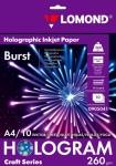 Односторонняя голографическая фотобумага для струйной печати А4, 260г/м², 10л