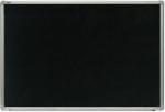 Доска  90*120 см, полимер, черный, для меловых маркеров, в алюмин. профиле ALU23
