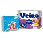 "Набор бумага туалетная  Veiro ""Standart Plus""+салфетки бумажные Veiro"