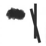 """Faber-Castell Мелок профессиональный """"PITT Monochrome"""" черный, обожженный, средняя твердость"""