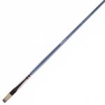 """Кисть для рисования """"Pinax Artists HI-TECH"""" синтетика, плоская, короткая, длинная ручка"""