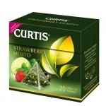 "Чай ""Curtis"" 20 пак*1.7 гр., зеленый, пирамидка, с клубникой, Strawberry Mojito"