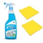 """Набор средство для мытья окон и стекол """"CLEAN GLASS"""" + Салфетка из микроспана"""