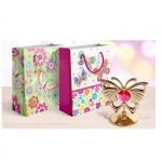 """Пакет бумажный подарочный """"Цветы и бабочки"""""""