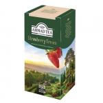 """Чай черный пакетированный""""Ahmad Tea"""" Strawberry Cream"""
