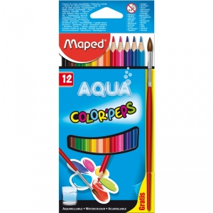 Цветные карандаши Aqua + кисточка