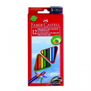 """Цветные карандаши """"Faber-Castell ECO"""", треугольные+точилка"""