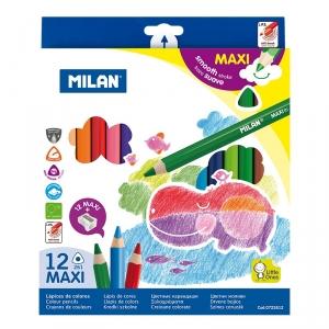 """Цветные карандаши """"Milan Maxi"""" трехгранные"""